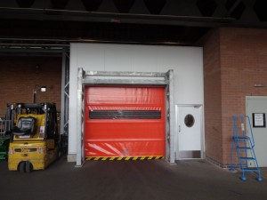 Automatic roller shutter doors